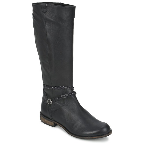 Schoenen Dames Hoge laarzen So Size BERTOU Zwart
