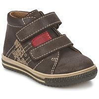 Schoenen Jongens Hoge sneakers Citrouille et Compagnie ESCLO Brown / Rood