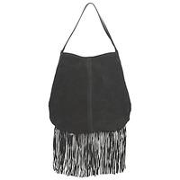 Tassen Dames Handtassen kort hengsel Pieces TABATHA SUEDE Zwart