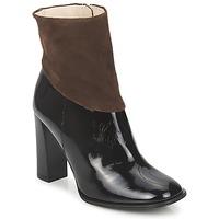 Schoenen Dames Enkellaarzen Paco Gil MERLOUNI Zwart / Brown