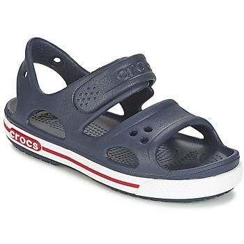 Schoenen Kinderen Sandalen / Open schoenen Crocs CROCBAND II SANDAL PS Marine / Wit