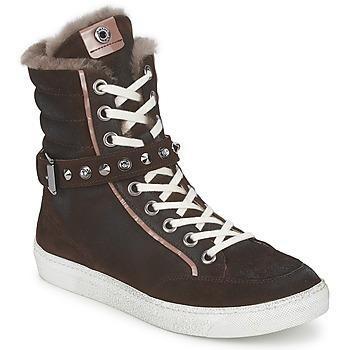 Schoenen Dames Hoge sneakers Janet Sport MOROBRAD Brown