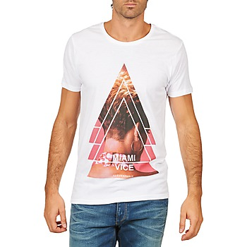 Textiel Heren T-shirts korte mouwen Eleven Paris MIAMI M MEN Wit