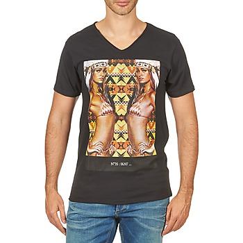 Textiel Heren T-shirts korte mouwen Eleven Paris N35 M MEN Zwart
