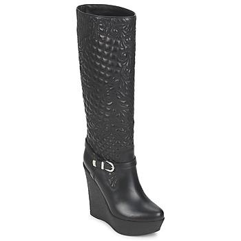 Schoenen Dames Hoge laarzen Versace DSL909R Zwart