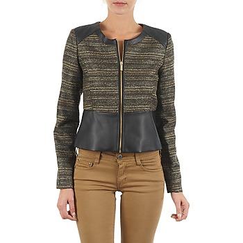 Textiel Dames Jasjes / Blazers Manoukian QUEELT Zwart / Goud