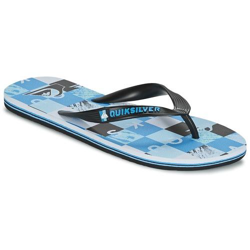 Schoenen Heren Slippers Quiksilver MOLOKAI CHECK REMIX Zwart / Blauw / Wit