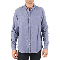 Textiel Heren Overhemden lange mouwen Cheap Monday DAMON BD SHIRT Blauw