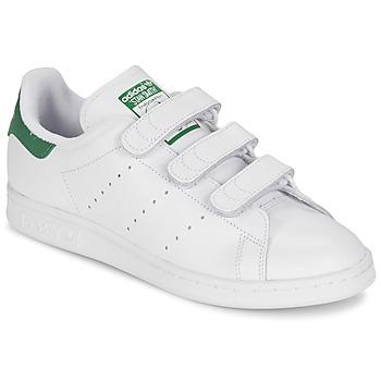 Schoenen Lage sneakers adidas Originals STAN SMITH CF Wit / Groen