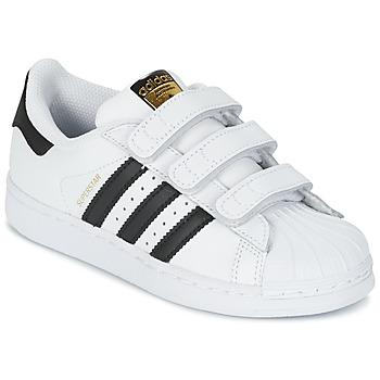 Schoenen Kinderen Lage sneakers adidas Originals SUPERSTAR FOUNDATIO Wit / Zwart