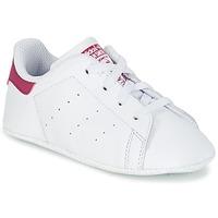 Schoenen Meisjes Lage sneakers adidas Originals STAN SMITH CRIB Wit / Roze