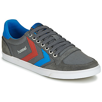Schoenen Heren Lage sneakers Hummel TEN STAR LOW CANVAS Grijs / Blauw / Rood