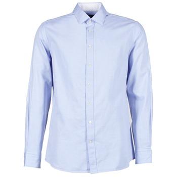 Textiel Heren Overhemden lange mouwen Hackett SQUARE TEXT MUTLI Blauw