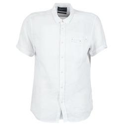 Textiel Heren Overhemden korte mouwen Chevignon C-LINEN Wit