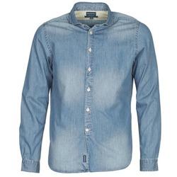 Textiel Heren Overhemden lange mouwen Façonnable PLUSAMO Blauw