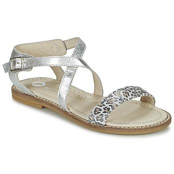 Schoenen Meisjes Sandalen / Open schoenen Garvalin COSMOS Zilver