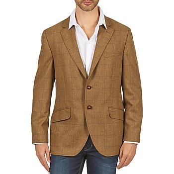Textiel Heren Jasjes / Blazers Hackett TWEED WPANE Brown