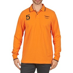 Textiel Heren Polo's lange mouwen Hackett AMR DOUBLE TIP Orange