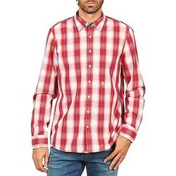 Textiel Heren Overhemden lange mouwen Gaastra ECHO SOUNDING Rood