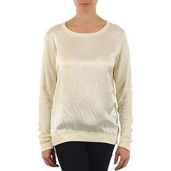 Textiel Dames T-shirts met lange mouwen Majestic 237 Ecru
