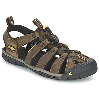 Schoenen Heren Outdoorsandalen Keen CLEARWATER CNX LEATHER Brown / Zwart