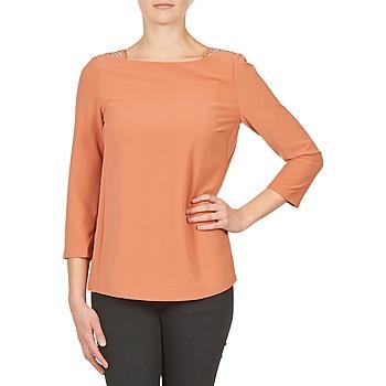 Textiel Dames T-shirts met lange mouwen Color Block 3214723 Corail