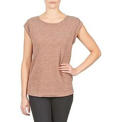 Textiel Dames T-shirts korte mouwen Color Block 3203417 Vieux / Roze / Chiné / Grijs