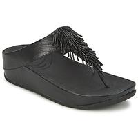 Schoenen Dames Slippers FitFlop CHACHA Zwart