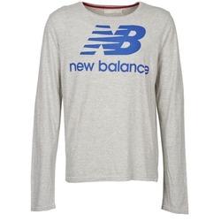 Textiel Heren T-shirts met lange mouwen New Balance NBSS1403 LONG SLEEVE TEE Grijs