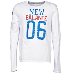 Textiel Heren T-shirts met lange mouwen New Balance NBSS1404 GRAPHIC LONG SLEEVE TEE Wit