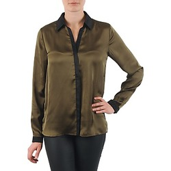 Textiel Dames Overhemden La City O CHEM PATTE Kaki / Zwart