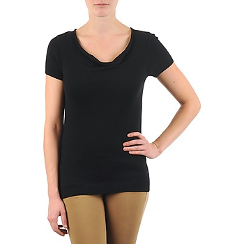 Textiel Dames T-shirts korte mouwen La City PULL COL BEB Zwart