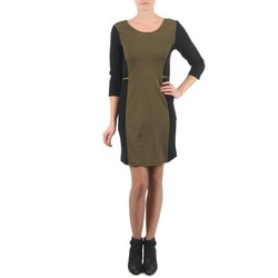 Textiel Dames Korte jurken La City ROKAMIL Kaki / Zwart