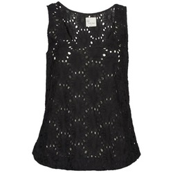 Textiel Dames Mouwloze tops Stella Forest ADE007 Zwart