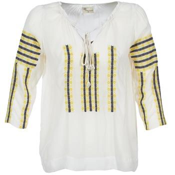 Textiel Dames Tops / Blousjes Stella Forest ATU025 Wit / Grijs / Geel