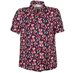 Textiel Dames Overhemden korte mouwen American Retro NEOSHIRT Zwart / Roze / Orange