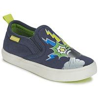 Schoenen Jongens Instappers Geox KIWI B. D Blauw / Groen