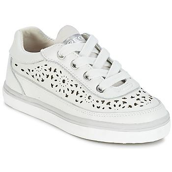 Schoenen Meisjes Lage sneakers Geox CIAK G. H Wit