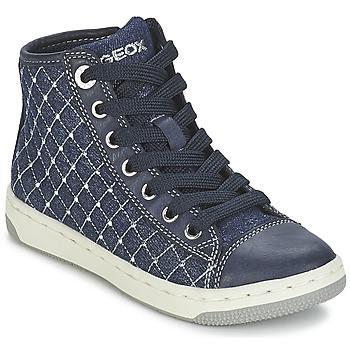 Schoenen Meisjes Hoge sneakers Geox CREAMY B Marine