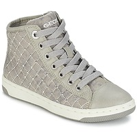 Schoenen Meisjes Hoge sneakers Geox CREAMY B Grijs