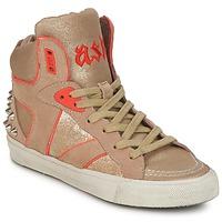 Schoenen Dames Hoge sneakers Ash SPIRIT Beige / Goud / Orange