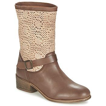 Schoenen Dames Laarzen Betty London CASTAGNO Brown