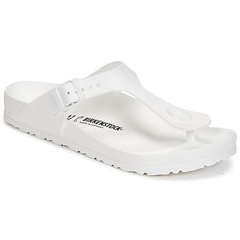 Schoenen Dames Slippers Birkenstock GIZEH EVA Wit