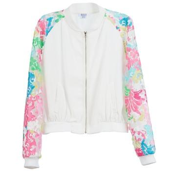 Textiel Dames Jacks / Blazers Brigitte Bardot BB44045 Wit / Multikleuren