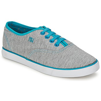 Schoenen Dames Lage sneakers Dorotennis C1 TENNIS RICHELIEU LACETS SEMELL JERSEY Grijs / Turquoise