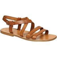 Schoenen Heren Sandalen / Open schoenen Gianluca - L'artigiano Del Cuoio 531 U CUOIO CUOIO Cuoio