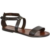 Schoenen Dames Sandalen / Open schoenen Gianluca - L'artigiano Del Cuoio 509 D MORO CUOIO Testa di Moro