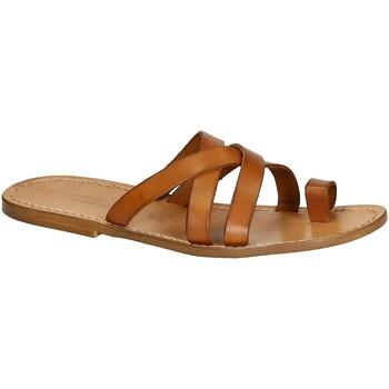 Schoenen Heren Sandalen / Open schoenen Gianluca - L'artigiano Del Cuoio 549 U CUOIO CUOIO Cuoio