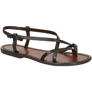 Schoenen Dames Sandalen / Open schoenen Gianluca - L'artigiano Del Cuoio 537 D MORO CUOIO Testa di Moro