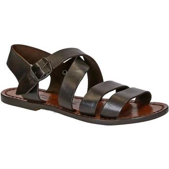 Schoenen Dames Sandalen / Open schoenen Gianluca - L'artigiano Del Cuoio 508 D MORO CUOIO Testa di Moro